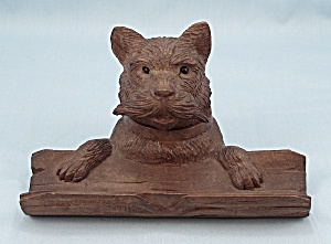 Carved Black Forest Scotty Dog Inkwell (Image1)