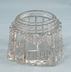 Fountain Ink Bottle Caddy � Crystal, Ribbed Sides, PAT. APL�d FOR (Image1)
