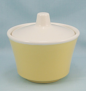Yellow Sugar Bowl, White Lid (Image1)