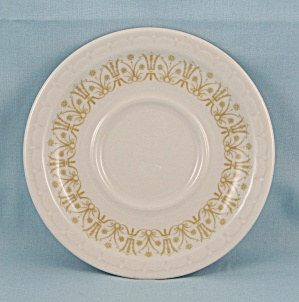 1970 Syracuse China Saucer - Classic Bronze