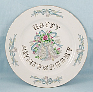 Lefton - Happy Anniversary Plate, 5508	 (Image1)