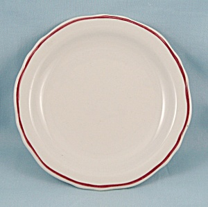 Homer Laughlin � Maroon Stripe � Bread Plate - Restaurant Ware (Image1)