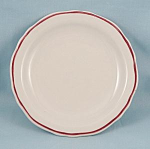 Homer Laughlin – Maroon Stripe – Bread Plate - Restaurant Ware (Image1)