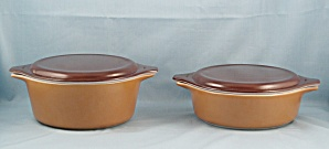 Set Of Two, Pyrex - Old Orchard � Casseroles & Lids, 1960 (Image1)
