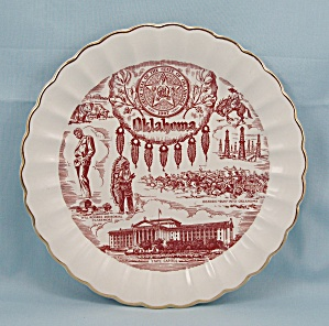 Oklahoma Collector Plate, Will Rogers Memorial, State Seal (Image1)