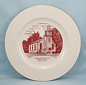 Bridgewater Baptist Church Plate, Bridgewater VA	 (Image1)