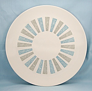 Mid Century Modern � Chop Plate, Blue and Gray	 (Image1)