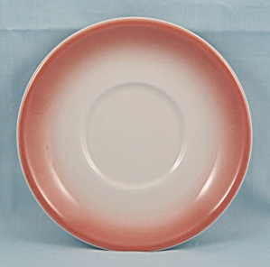Jackson China � Saucer, Salmon Airbrushed Edge (Image1)