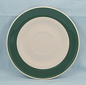Gibson China Saucer, Green Rim (Image1)
