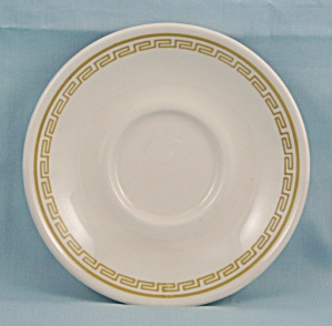 Homer Laughlin - Saucer - Gold Band, Key Border