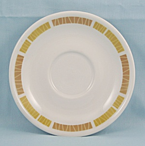 1969 Mayer China Saucer - Gold & Tan Trim