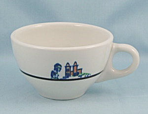 Sterling China Cup - Castle/ Black Line - Vitrified China, 1969