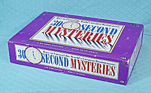30 Second Mysteries Game, University Games, 1995