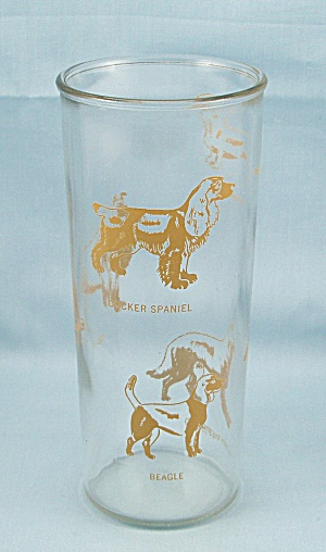 2 pastel frosted tumblers  center band gold leaves