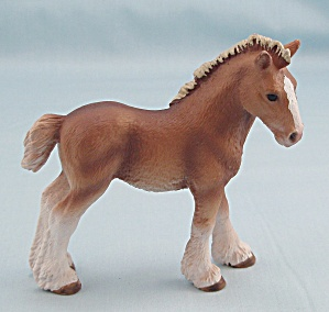 Schleich Horse, 2009 Clydesdale Foal, 13671