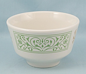 Homer Laughlin China, Bouillon Soup Bowl, Green & Yellow Design