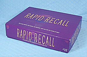 Rapid Recall Game, Western Publishing Co., 1993