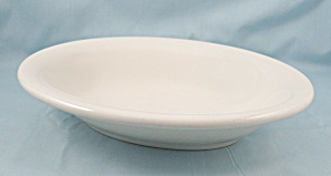 Homer Laughlin China � Large White Oval Serving Bowl	 (Image1)