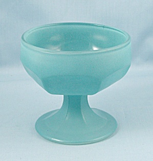 Federal, Frosted Blue Glass Sherbet (Image1)