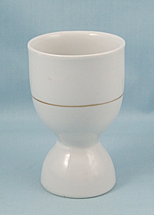 Porcelain Reversible/Double Egg Cup – Gold Stripe (Image1)