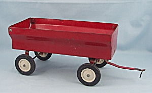 Ertl, Red Toy Grain Wagon With Lift-up Gate