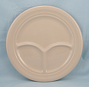 Shenango China Divided Grill Plate - Tan