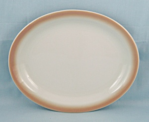 Shenango China Oval Platter, Airbrushed Edge