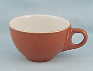 Sterling China Cup - Cinnamon & White