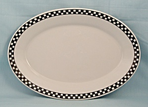 Homer Laughlin – Checkerboard Rim,  Platter (Image1)