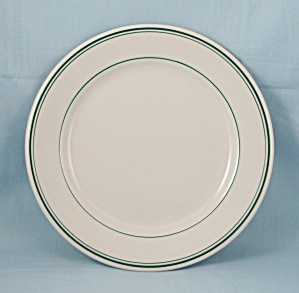 Shenango China, 9-inch Plate, Green Lines