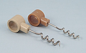 2 - Tan Plastic Handle � Cork Screws  (Image1)