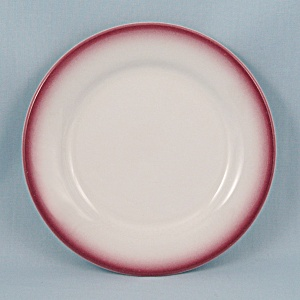 Homer Laughlin Bread & Butter Plate, Maroon Rim