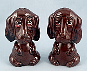 Red Ware Hounds, Salt & Pepper Shakers, Enesco (Image1)