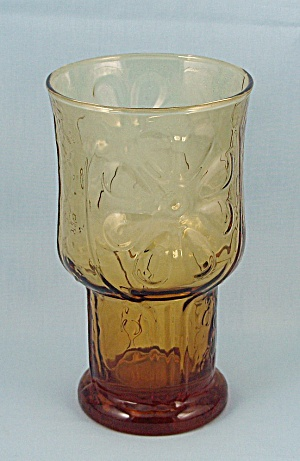 Libbey Glass - Country Garden, Amber, Cooler/ Tumbler