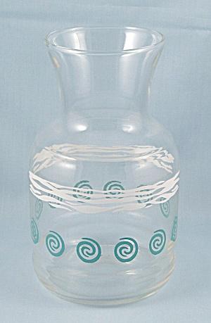 Carafe – Turquoise & White (Image1)