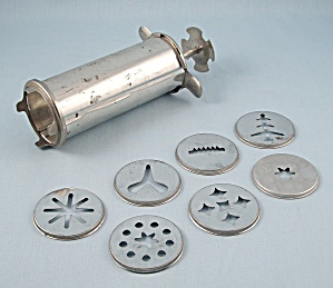 Aluminum Cookie Press, 7- Discs, Patn'd (Image1)