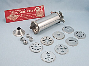 Combination Cookie Press & Cake Decorator Set, Patn'd