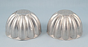 Two Small Jell - O - Aluminum Molds