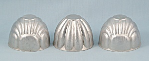 Three Small Aluminum Molds