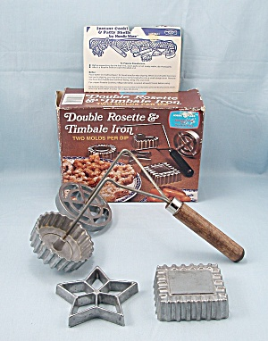 Nordic Ware - Double Set - Rosette - Timbale Irons, Directions