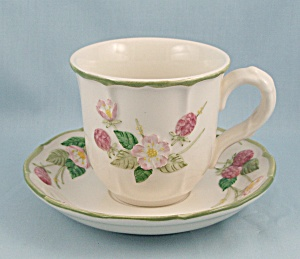 Metlox/Poppytrail – Sculptured Berry – Cup & Saucer (Image1)