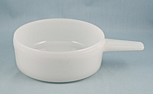 Glasbake Soup Bowl, 2639 - White, Long Handled