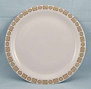 Country Kitchen - Shenango China Plate, Gold Floral Rim - 1974