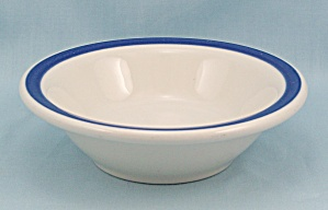 Sterling China - Dessert Bowl, Blue Rim