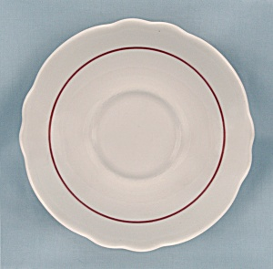 Homer Laughlin Saucer, 1969 - Maroon Line