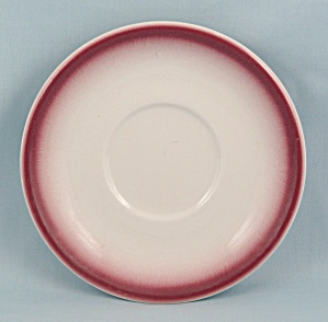 Homer Laughlin Saucer, Airbrushed Maroon, 1970