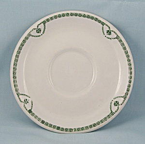 Jackson China Saucer, Green Nouveau Pattern (Image1)