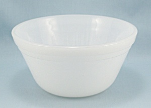 Federal Glass - 5 Inch, White Banded Glass Bowl