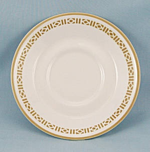 Syralite, Honey Comb Saucer – Syracuse China	 (Image1)