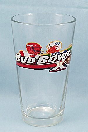Bud Bowl X � Budweiser Beer Glass - Football (Image1)